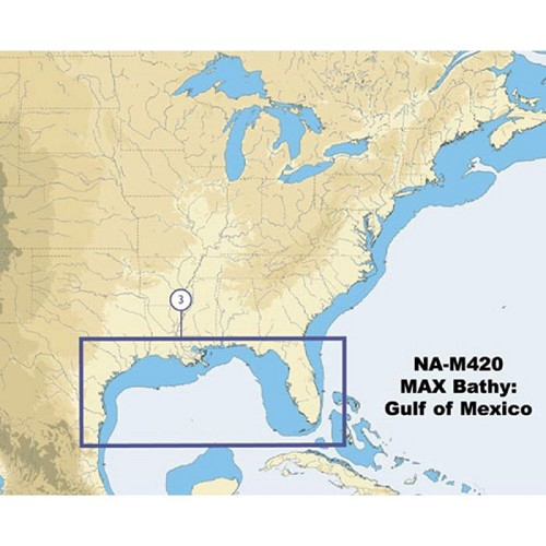 C-Map NA-M420 Gulf of Mexico Bathy Chart NA-M420C-CARD