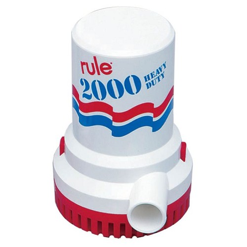 Rule 2000 GPH Non-Automatic Bilge Pump 10-6UL