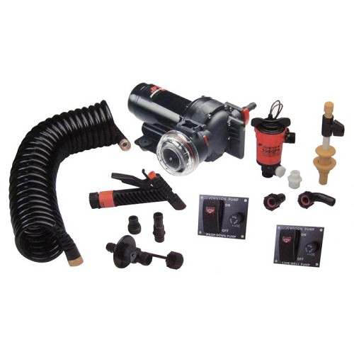 Johnson Pump Aqua Jet Wash Down 550 Live Well Kit 64634